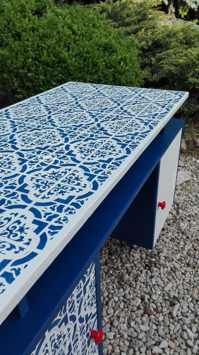 Blat biurka malowany