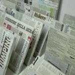 Fronty STUVA oklejone gazetami