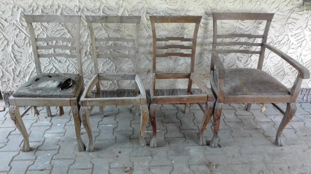 Jak przerobić stare krzesła na ławkę?