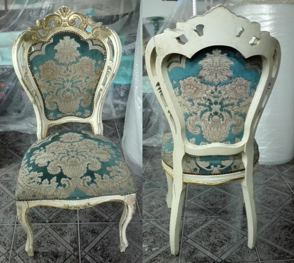 Krzesła ludwikowskie do renowacji