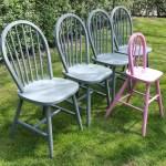 Krzesła IKEA malowane na szaro