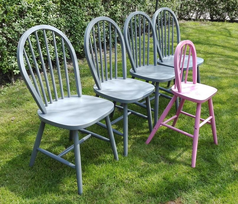 Krzesła z IKEA malowane