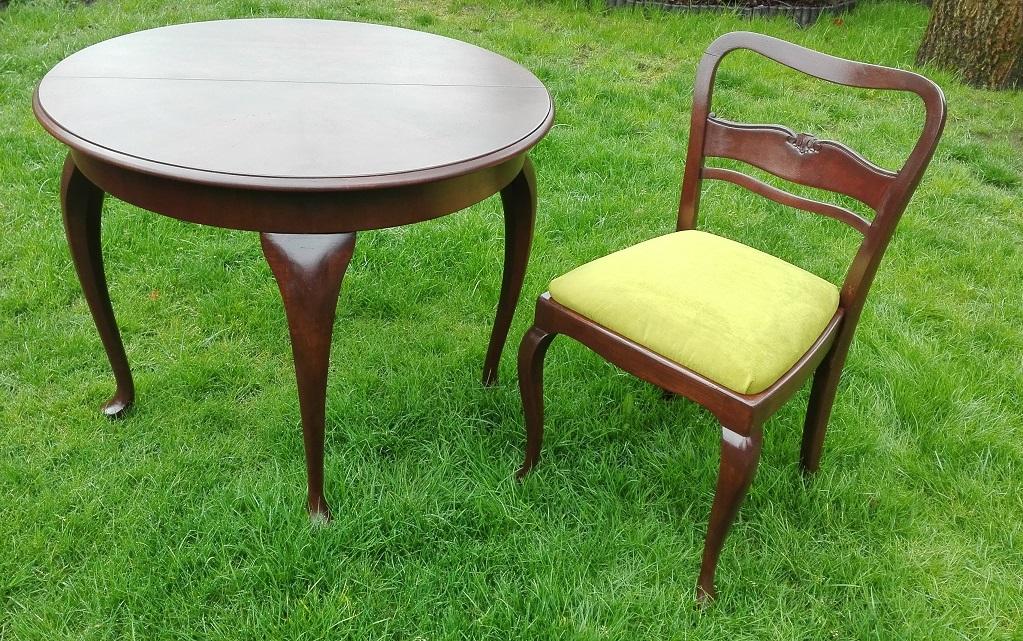 Renowacja stołu i krzesła