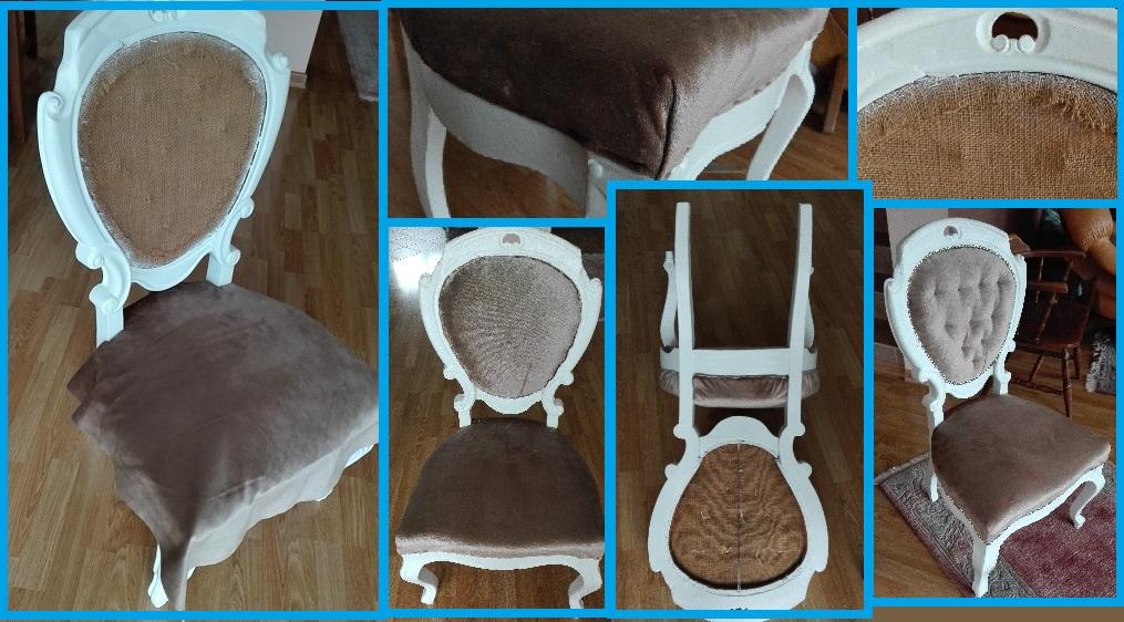 Obijanie stylowego krzesła
