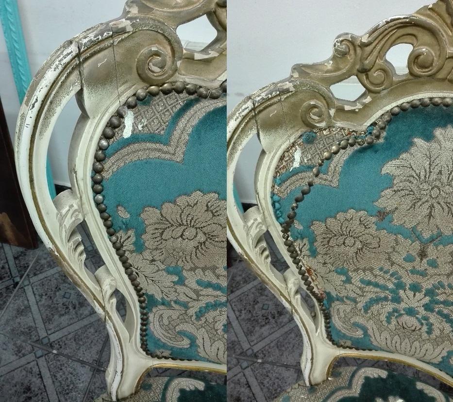 Renowacja krzeseł ludwikowskich