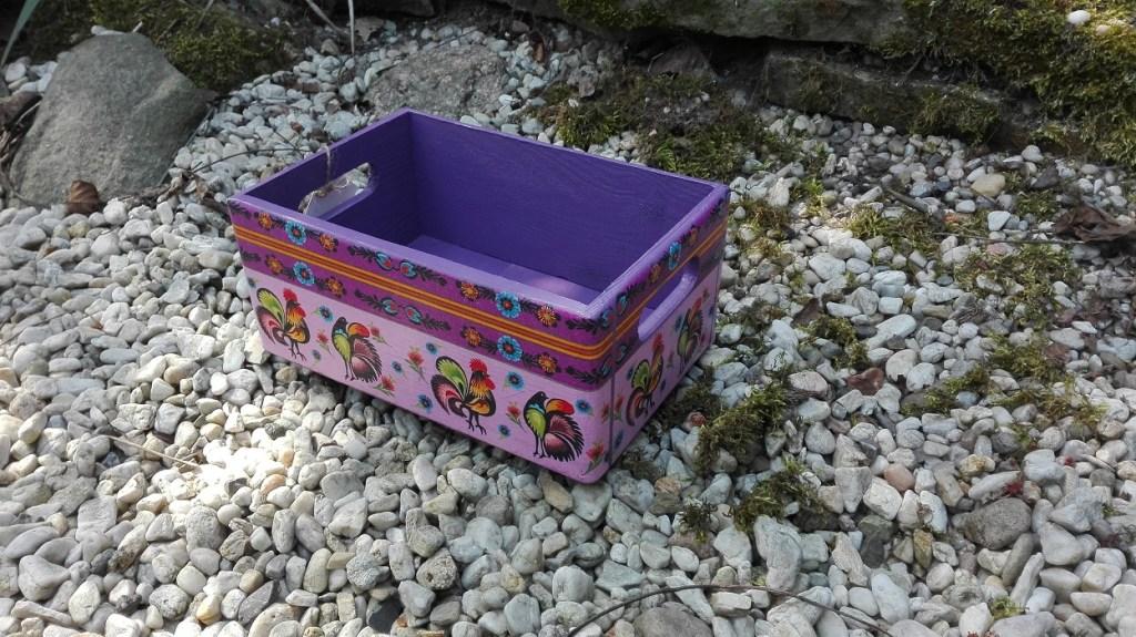 Skrzyneczka łowicka - fioletowa