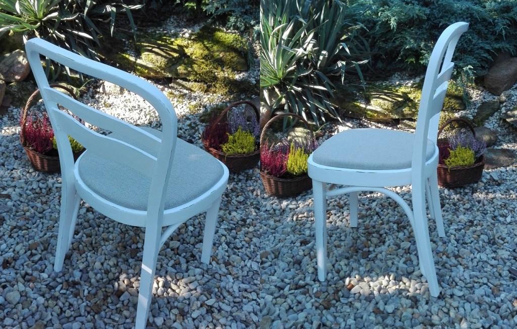 Białe malowane krzesło