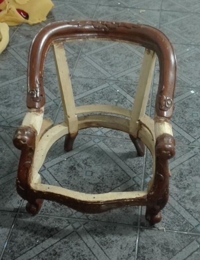 Fotel stylowy antyczny - renowacja