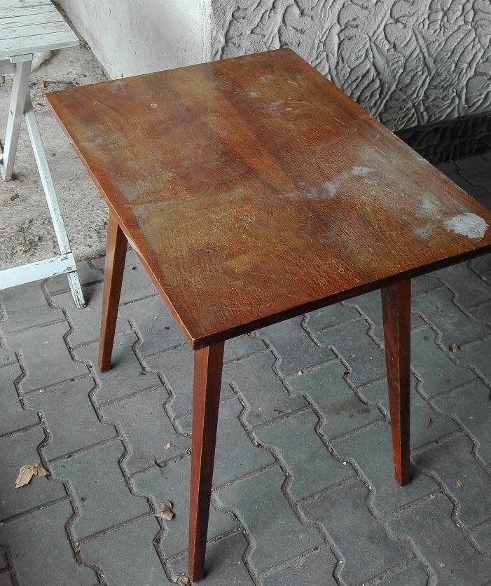 Renowacja stolika z lat 60-tych