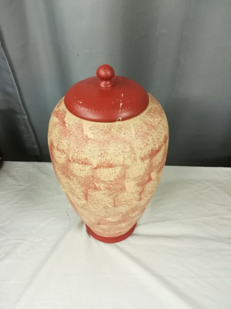 Naczynie gliniane ceramiczne z pokrywką