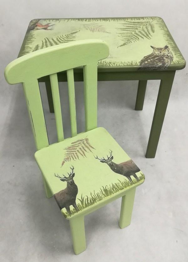 Motyw roślin i zwierząt na meblach dziecięcych