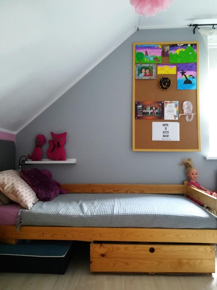 Łóżko sosnowe dziewczynki