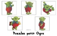 Le petit ogre veut aller à l'école - puzzles du petit ogre