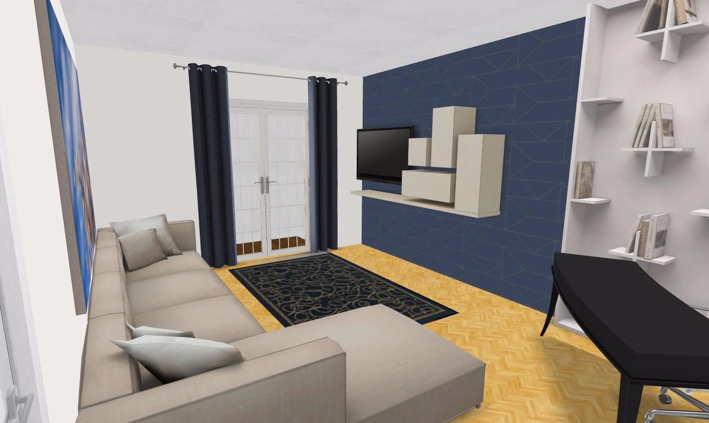 design ötlet nagyzuglói 54 nm hasznos alapterű, 2 szobás lakáshoz