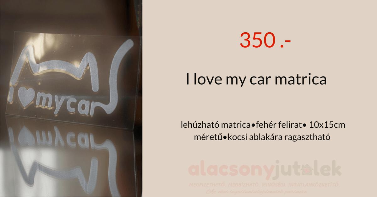 I love my car matrica- 10x15cm-350ft