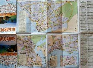 Algarve Portugália térkép