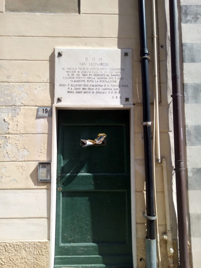 Casa en la que nació San Leonardo de Porto Maurizio
