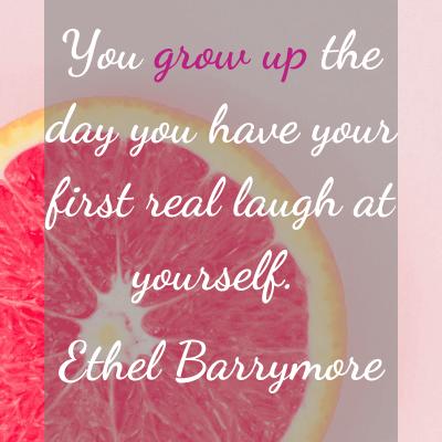 Weekend Words on Growing Up