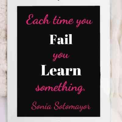 Weekend Words on Failure