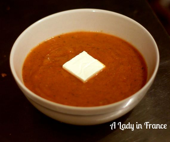 vegetable soup purée