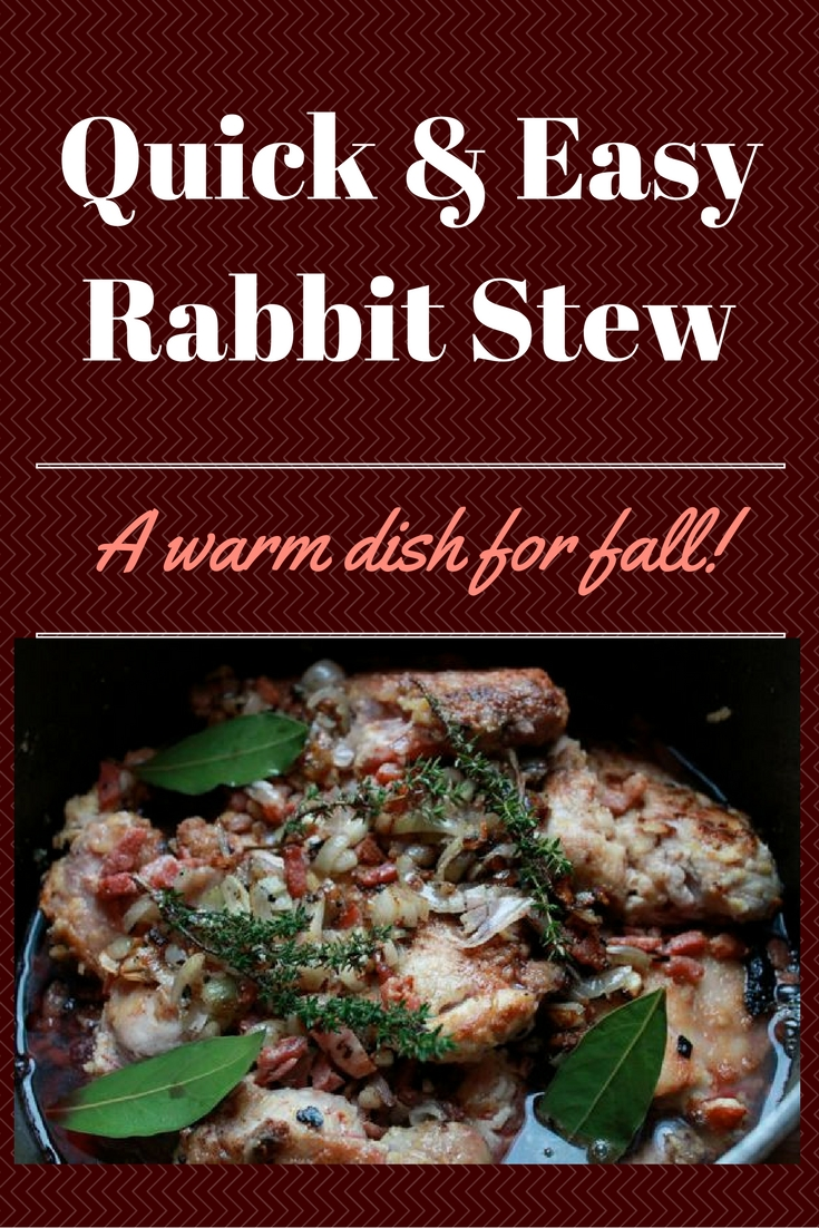 Bacon, mushrooms, cream, white wine, and Dijon mustard ... French rabbit stew is easy to make.