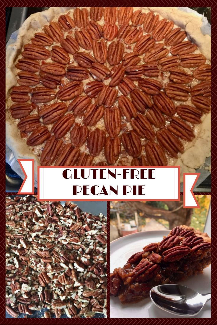 Gluten-free pecan pie with a caramelised filling.