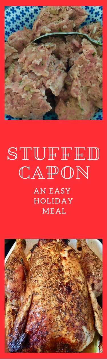 French recipe for capon. Perfect for a holiday meal.