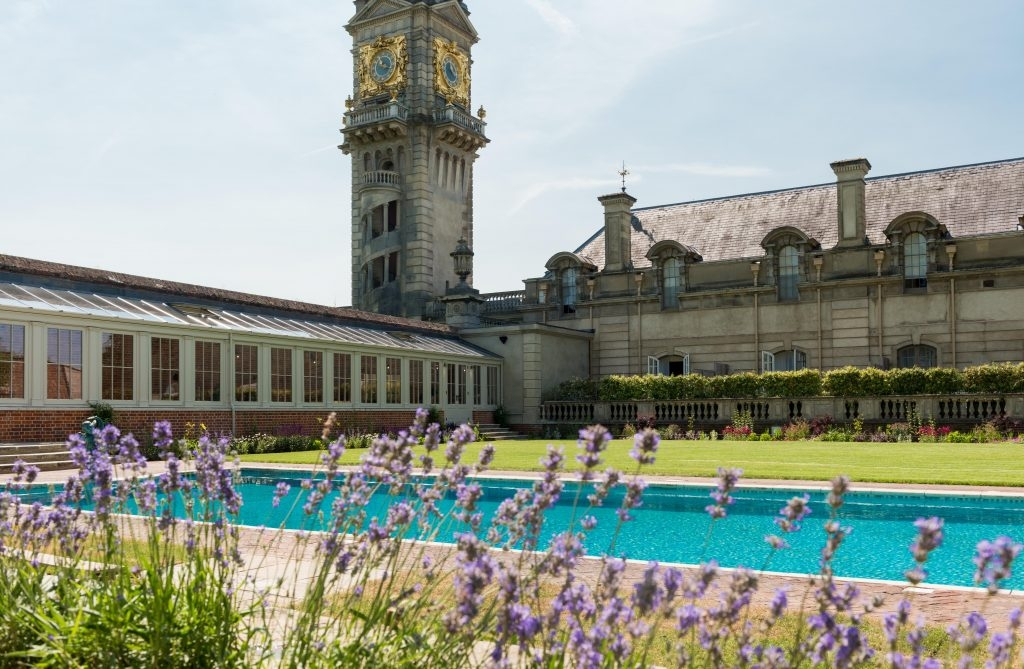the swimming pool at Cliveden