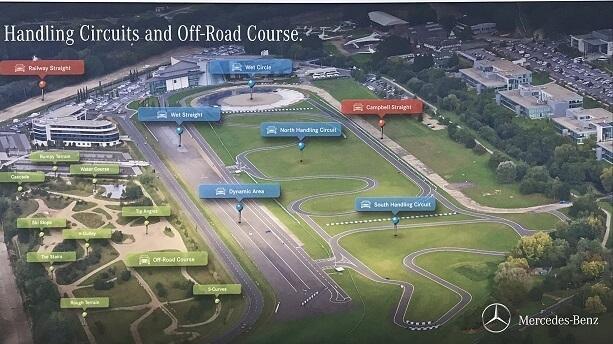 map of racing circuit at Brooklands Surrey