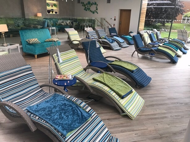 loungers at Ragdale Hall spa