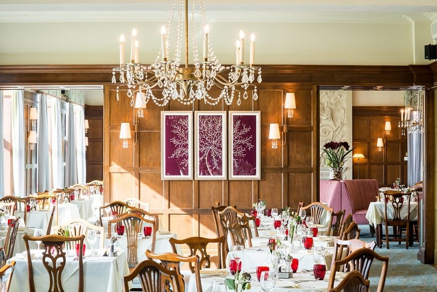 dining room at Ragdale Hall
