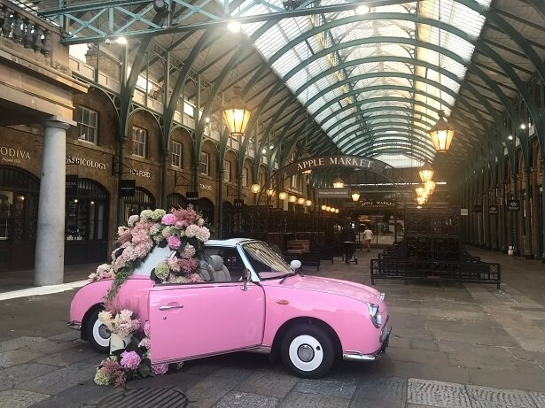 Covent Garden looking pretty (and empty) at 7am - bliss!