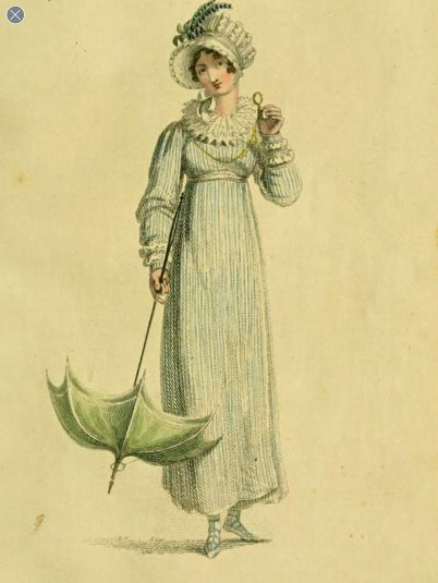 Ackermann Promenade dress August 1815