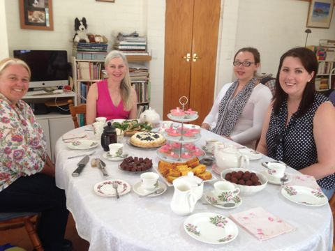 AFternoon tea table and friends
