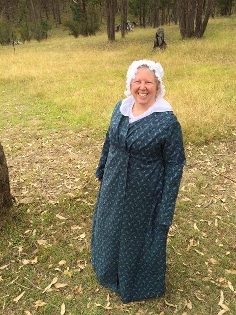 Regency style wrap dress