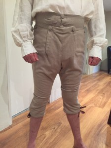 Breeches finished - Modelled by SO