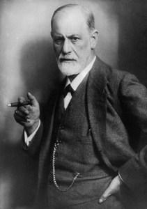 """Sigmund Freud, le """"père"""" de la psychanalyse, photographié en 1922 pour le magasine LIFE."""