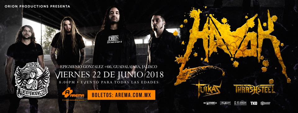 Havok – Conformicide Mexico Tour 2018 / Foro Independencia