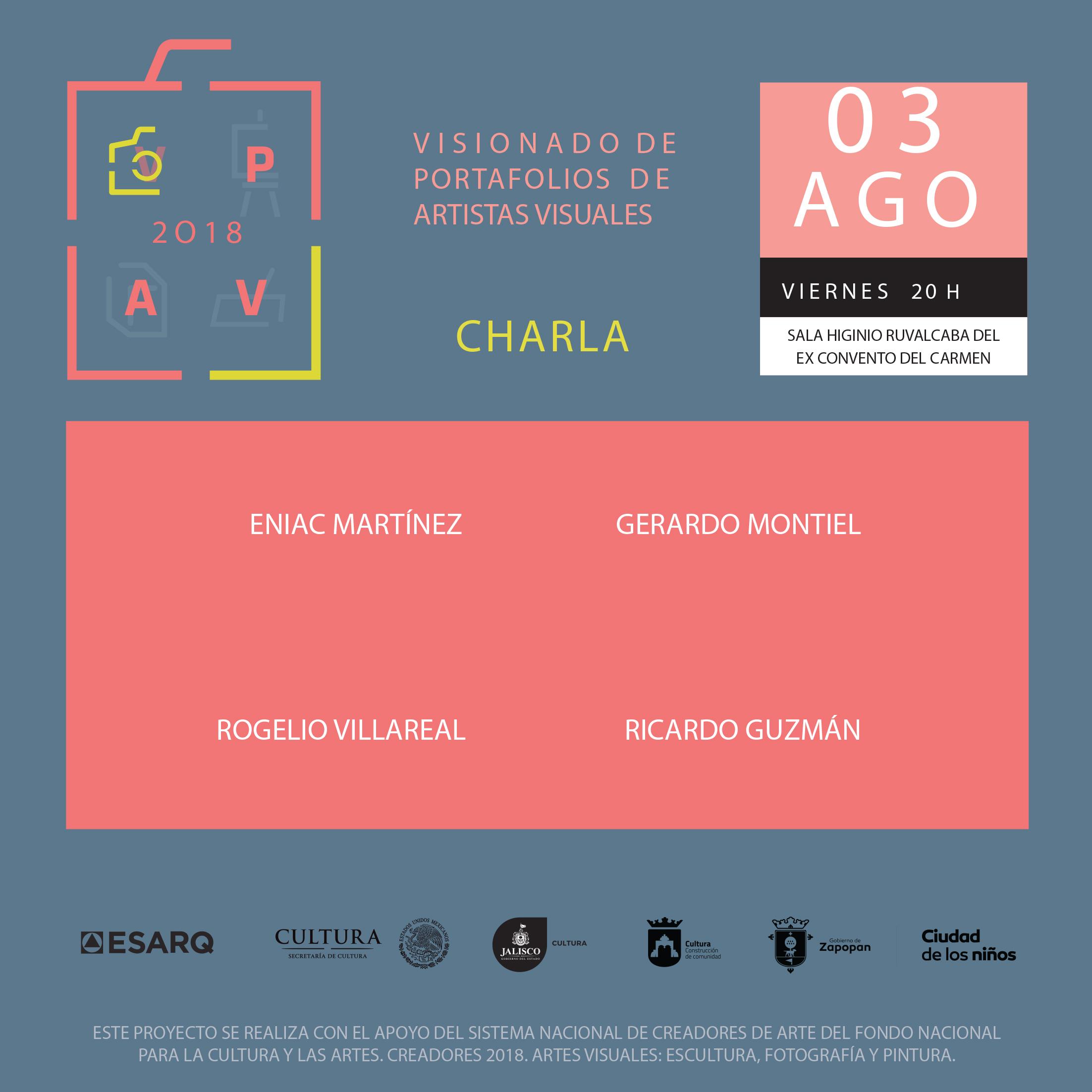 Convocan a participar en el Visionado De Portafolios De Artistas Visuales 2018