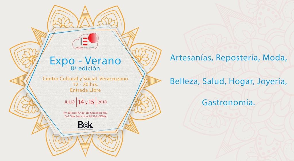 Expo – Verano, 8ª. Edición / Centro Cultural y  Social Veracruzano, CDMX / 14 y 15 de Julio