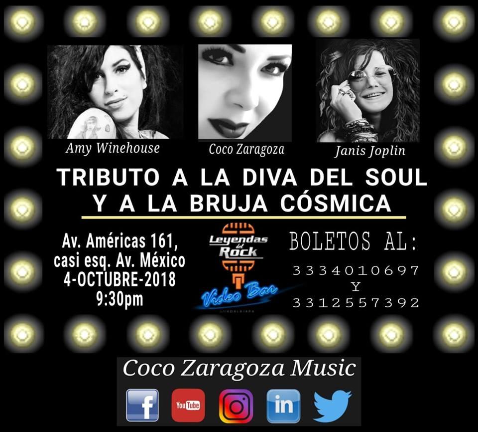 Tributo a la Diva del Soul y a la Bruja Cósmica / Leyendas del Rock
