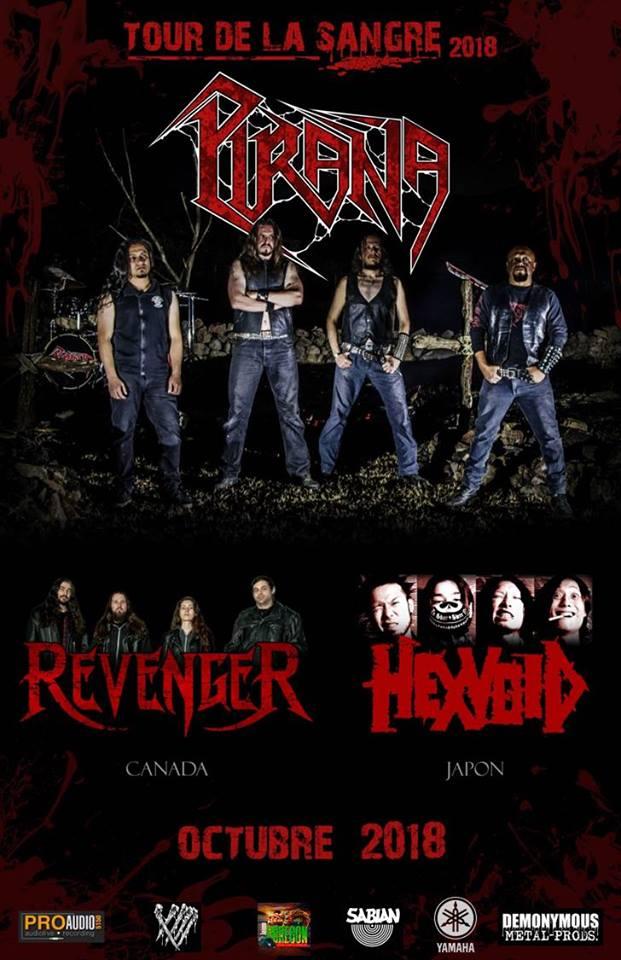 Hexvoid de Japón, Revenger de Canadá y Piraña de México / Foro Independencia / 14 de octubre, 20:00 hrs