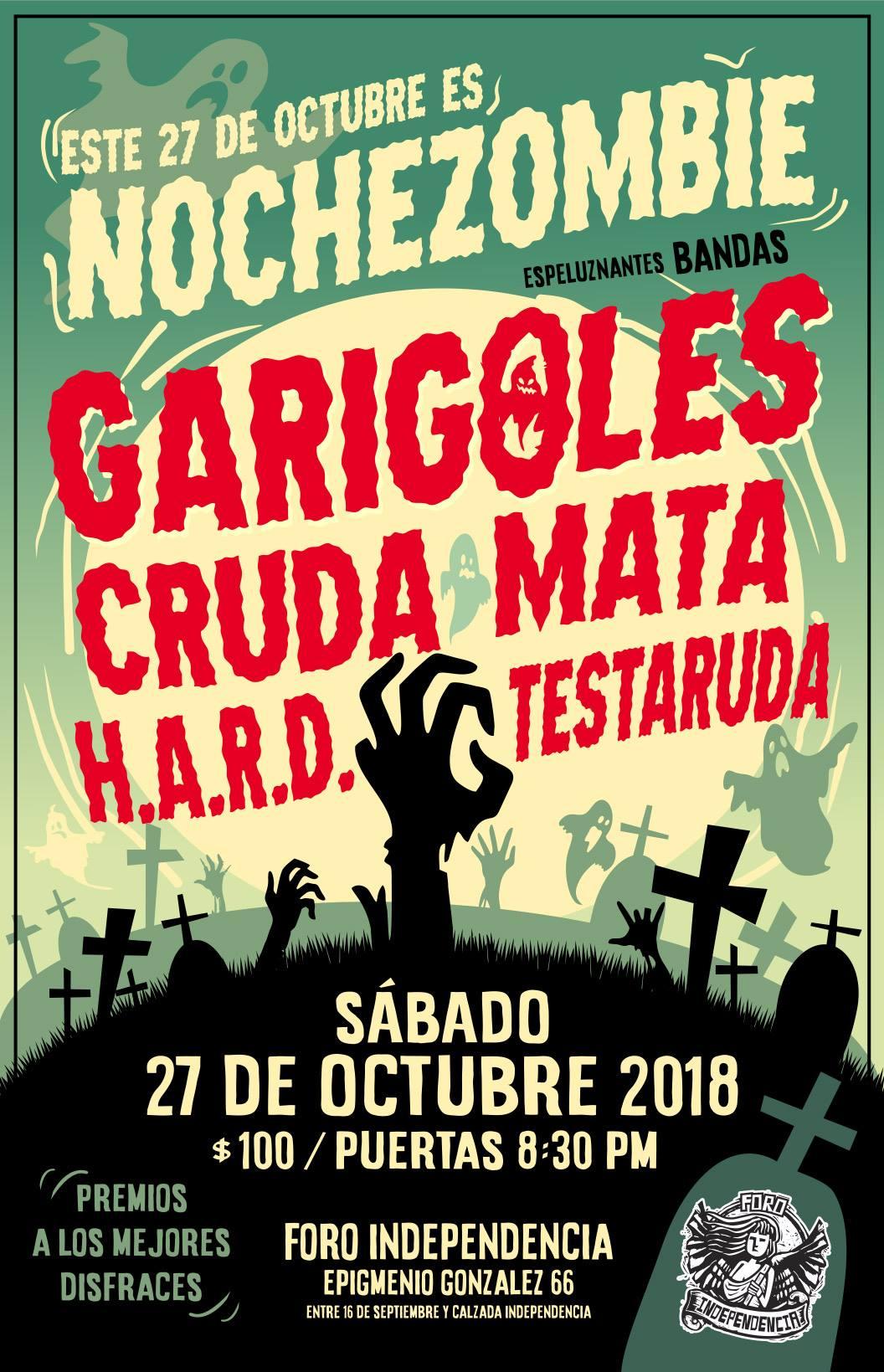 Nochezombie con Los Garigoles / Foro Independencia