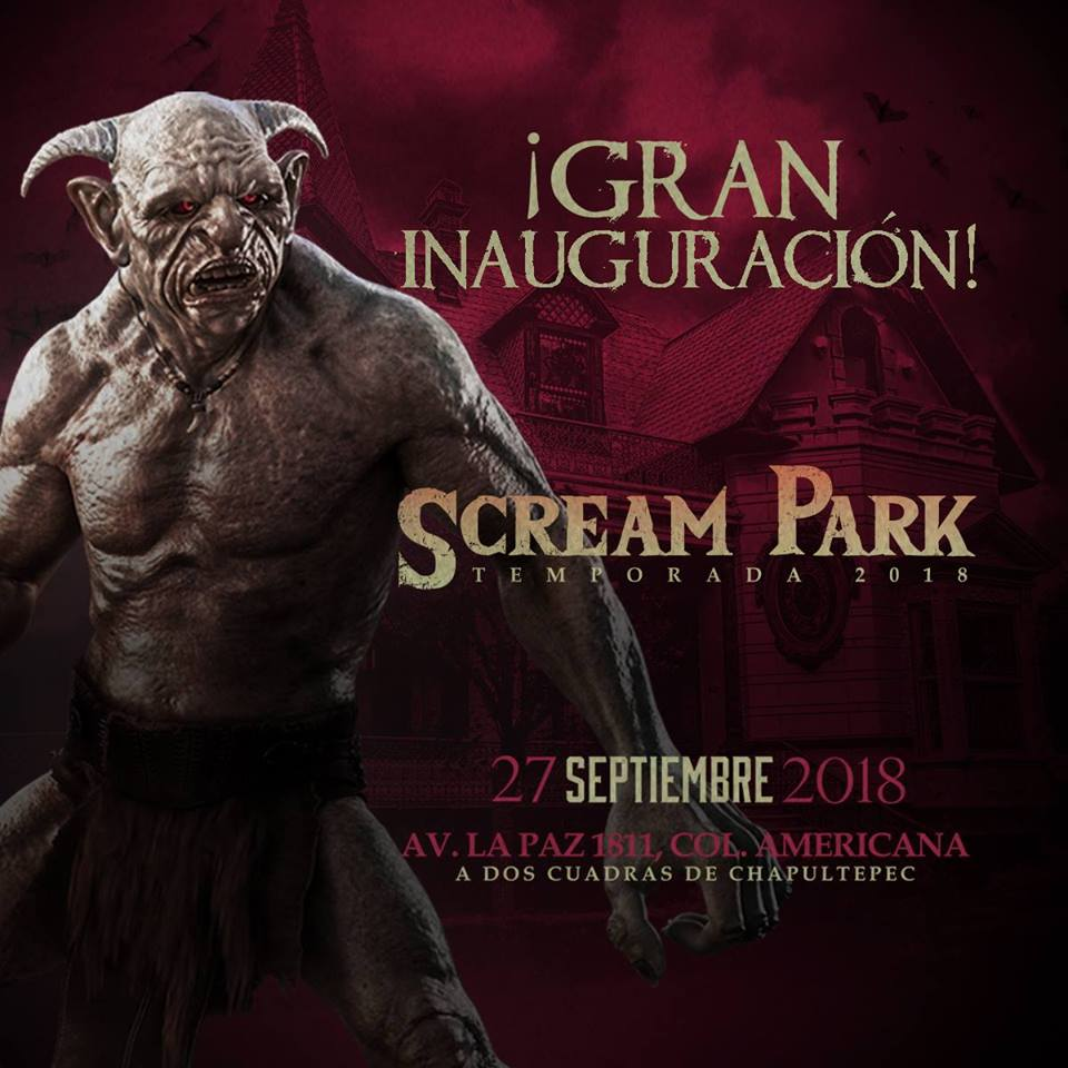 #DateAlaFuga #Cortesías / Scream Park / Casa Clover Lawn