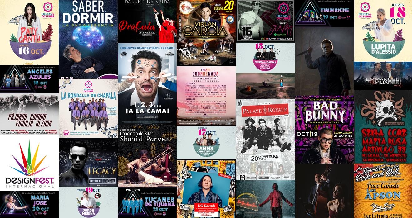 Calendario Semanal Eventos del 15 al 21 de Octubre 2018