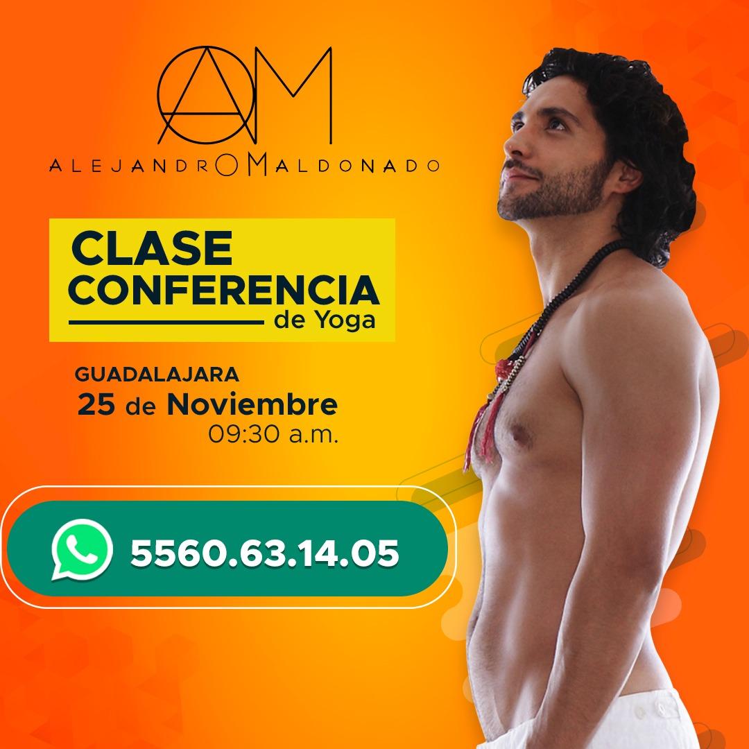 """El """"yoga teacher"""", Alejandro Maldonado por primera vez en la ciudad de Guadalajara ofrecerá su Clase Conferencia de Yoga, """"La Iniciación""""."""