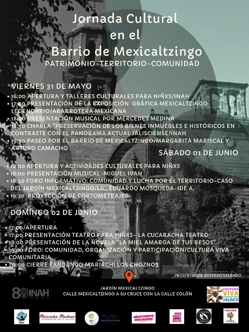 Jornada Cultural en el Barrio de Mexicaltzingo