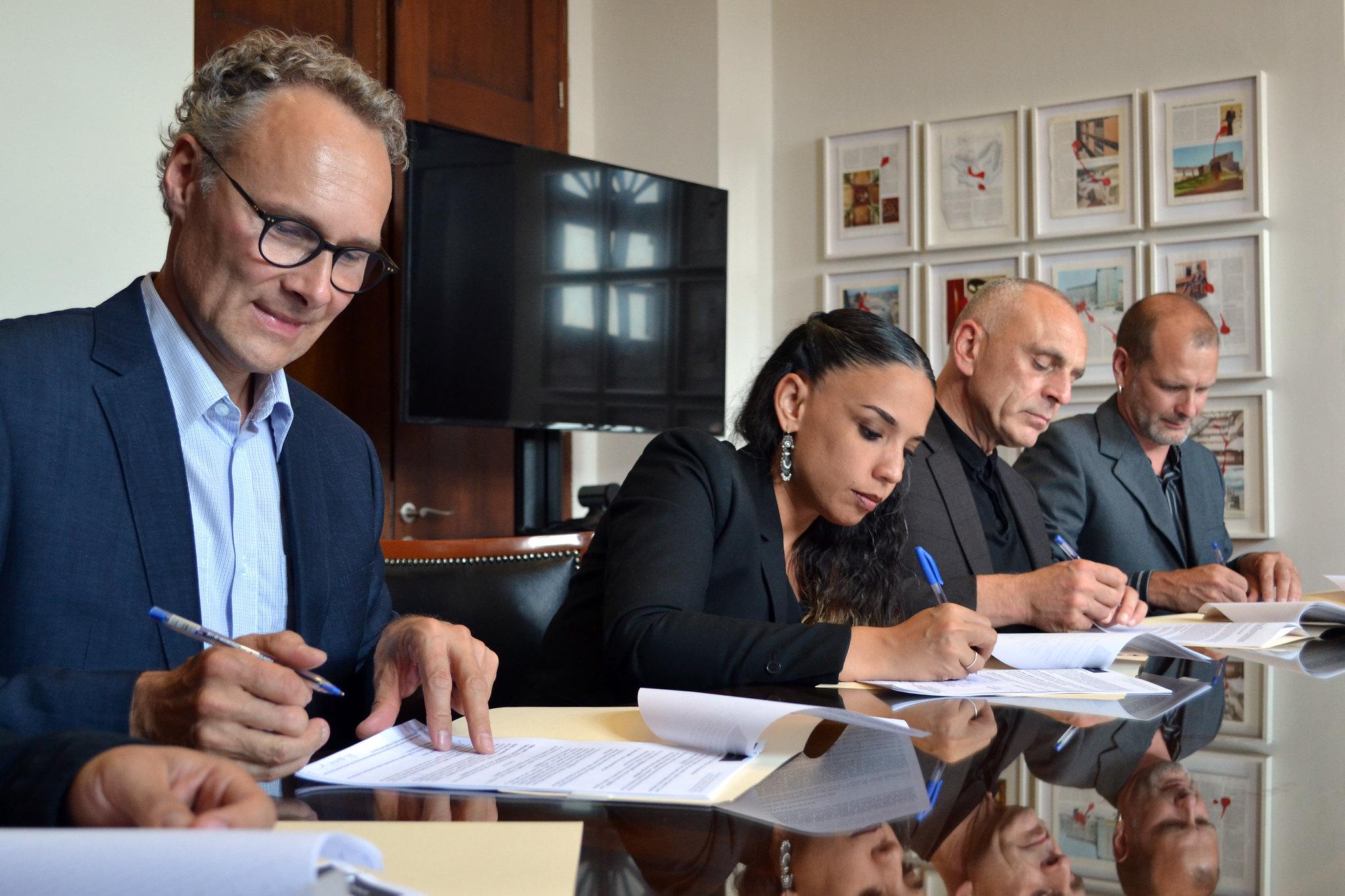 Firma Secretaría de Cultura convenio de activación cultural con  Goethe-Institut Mexiko y Siemens Stiftung