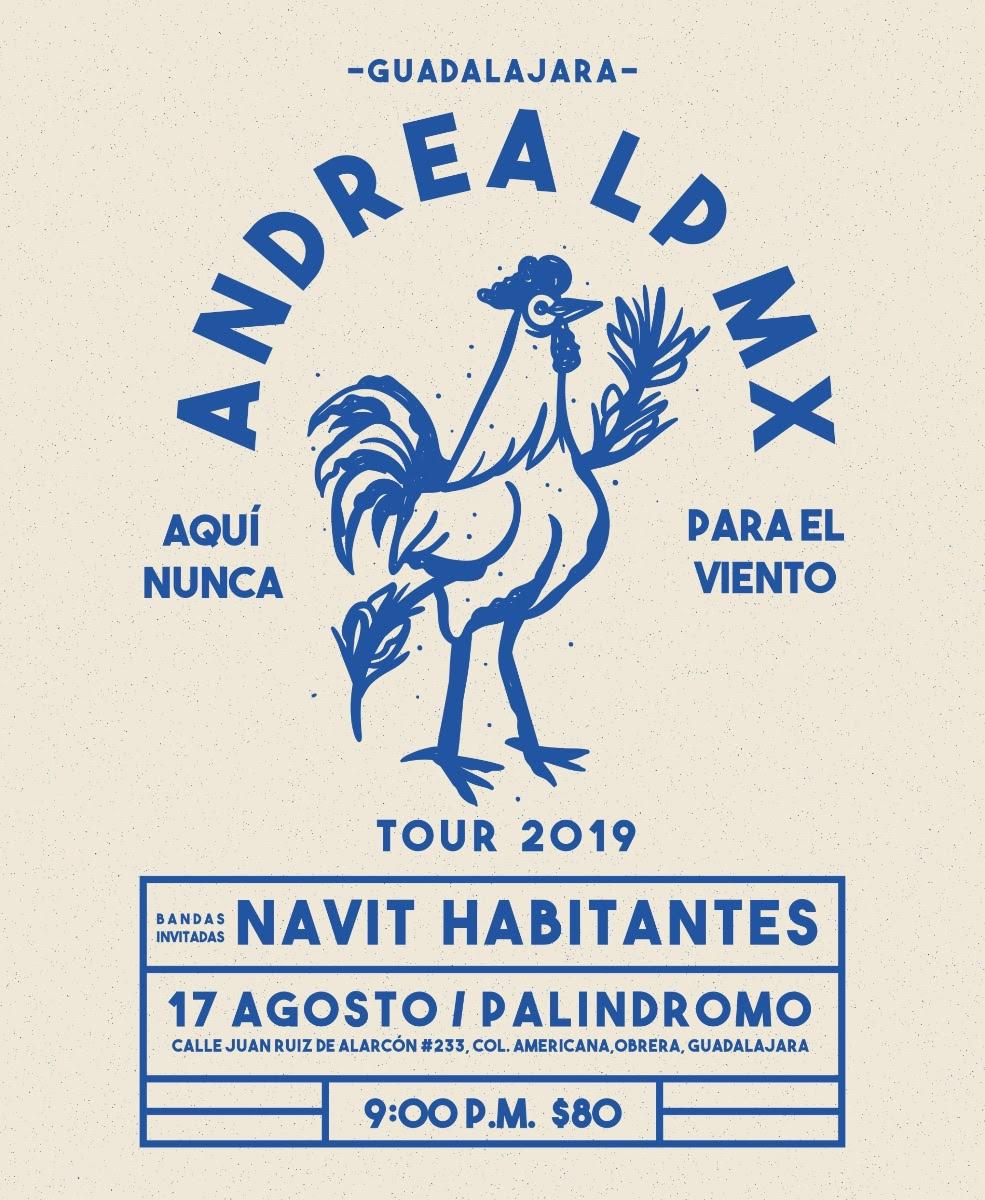 La banda de Indie-folk Andrea Lp Mx en Guadalajara