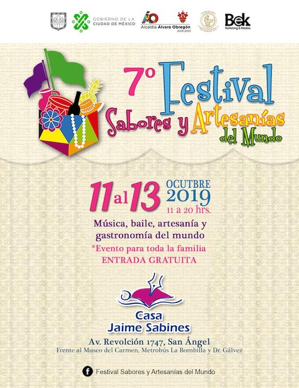 El 7º. festival sabores y artesanías del mundo CANCELADO